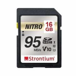 Carte SDXC Strontium Nitro U1 de 16 Go.