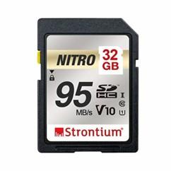 Carte SDXC Strontium Nitro U1 de 32 Go.