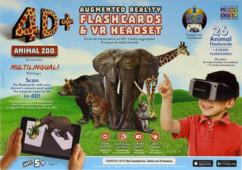 casque de realité virtuelle avec cartes animaux realité augmentée apprendre anglais animaux orthographe 4D+ Zoo
