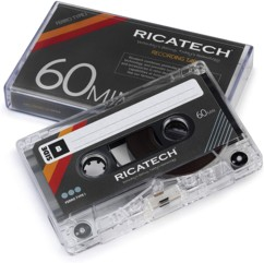 Cassettes audio 60 minutes Ricatech CT60 x 2