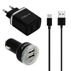 Double chargeur USB 12V et 230V avec charge Rapide 2,1 A