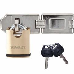 cadenas a clé en laiton avec serrure de securité Stanley kwikset