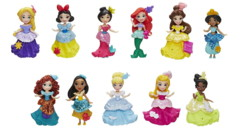 Coffret mini royaume avec 11 princesses Disney