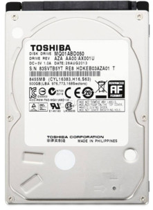 Disque dur 2,5'' Toshiba MQ01ABD050V - 500 Go