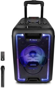 enceinte sono portable avec roulettes et trolley 200w bluetooth sd usb entree micro karaoke idance mb1000