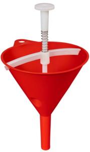 Entonnoir doseur rouge avec bouchon et ressort 140mm