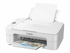 Imprimante Canon Pixma TS3351 blanche.