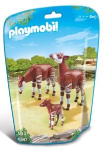 Jouet Playmobil collection Le Zoo - Couple d'Okapis et leur bébé (n° 6643)