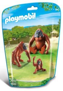 jouet playmobil animaux le zoo couple orang outans avec bébé singe 6648