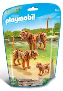 Jouet Playmobil collection Le Zoo - Couple de Tigres et leur bébé (n° 6645)