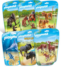 Jouet Playmobil collection Le Zoo - Pack 6 sets d'animaux n°1