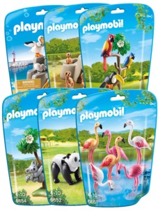 Lot Playmobil collection Le Zoo - 6 packs d'animaux n°2