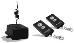 pack récepteur domotique porte de garage lampe avec 2 telecommandes 2 boutons 433 mhz black jolly line
