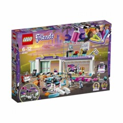 Packaging de la boîte LEGO Friends L'atelier de customisation de kart.
