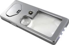 mini loupe de lecture x3 et x7 avec mini lampe de poche led
