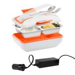 Lunch box chauffante Pro 12 V InnovaGoods avec convertisseur 12 V.