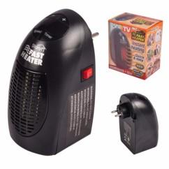 mini chauffage pour prise murale avec thermostat electronique et minuterie starlyf fast heater