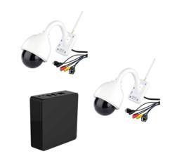 Lot de 2 caméras IPC-440.HD avec 1 enregistreur vidéo 7Links.