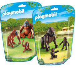 Pack avec 6  figurines de singes