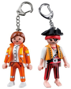 Pack de 2 porte-clés Playmobil secouriste + pirate