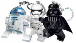 Pack porte-clés avec Lampe LED Lego Star Wars - Stormtrooper / Dark Vador / R2D2