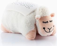 coussin en forme de mouton ultra doux avec projecteur etoiles colorées pour chambre bébé enfant Innovagoods