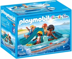 jouet playmobil family fun pedalo avec famille 4 enfants 9424