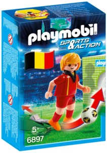 jouet playmobil foot sports & action joueur de foot belgique kevin de bruyn