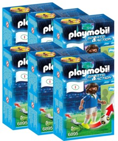 Playmobil Sports & Action : joueur de foot - Italie - x6