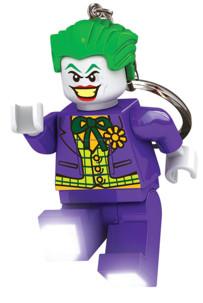porte clés lumineux lego joker dc comics super heros avec lampes led sous le pied