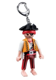 Pirate Playmobil en porte-clé à collectionner.