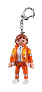 Porte-clé Playmobil secouriste.