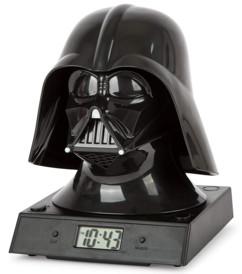 Réveil lumineux Star Wars casque Darth Vader avec projection
