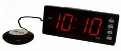 reveil digital grand chiffres rouge avec sonnerie et element vibrant pour reveil doux orium hisrev02