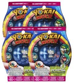 """Lot de 4 sachets de 2 médailles Yo-Kai Watch """"Yo-Motion"""" Saison 2"""