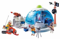 qg explorateurs polaires playmobil action igloo 3 figurines moto neige harpon jouet de construction pour enfants