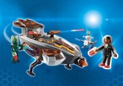 set de jeu playmobil super 4 la navette sykronienne et gene pack 9408