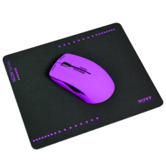 Souris optique sans fil Neon avec tapis - Pourpre