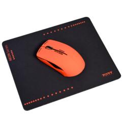 Souris optique sans fil Neon avec tapis - Rouge