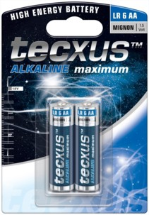 Tecxus piles LR6 type AA - Lot de 2