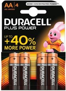 Duracell piles LR6 type AA - Lot de 4