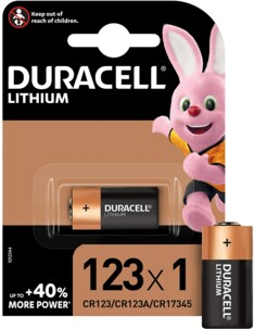 Duracell pile Ultra photo lithium CR123A