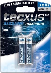 Tecxus piles LR03 type AAA - Lot de 2