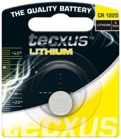 Pile bouton Tecxus Lithium CR1225