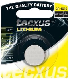 Pile bouton Tecxus Lithium CR1616
