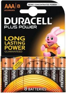 Duracell piles LR03 type AAA - Lot de 8