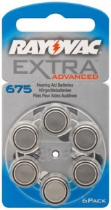 Rayovac piles bouton PR44 - Lot de 6