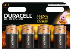 Duracell piles LR20 type D - Lot de 4