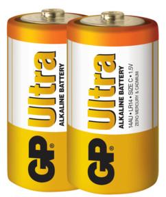 pack de 2 piles alcaline longue duree gep ultra format C lr14