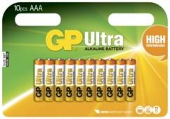 Piles alcalines AAA GP Ultra - x10
